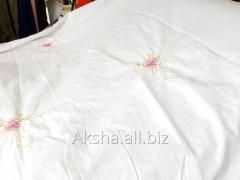 Постельный материал, Мягкий, на Белом фоне с Цветками