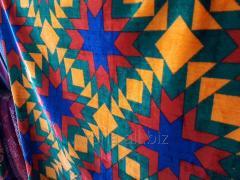 Казахский Национальный Материал для Корпе. Мягкий, Цветной. На орнаментах