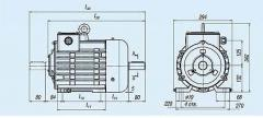 Electric motors (brake cars). three-phase