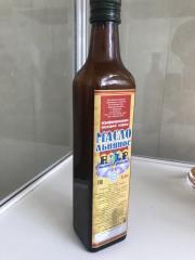 Масло льняное 0,5 л. стеклянная бутылка