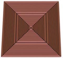 Moisture resistant terrace parquet of FORREST WPVC