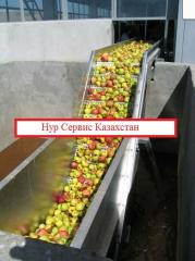 Line of production of apple juices / plan