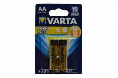 Батарейка VARTA Longlife Mignon 1.5V LR06/ AA (2 шт.)