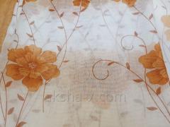 Шторы Тюль с Цветочками Белый Фон
