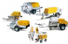 Оборудование для нанесения материалов отделочных