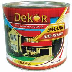 Alkyd enamel for roofs (for external works) Dekor
