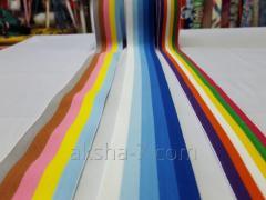 Резинка с Цветная в полоску, 0,5-0,4 см. Плотность Средняя