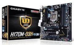 Материнская плата Gigabyte GA-H170M-D3H DDR3 LGA 1151 Intel H170 4xDDR3 mATX AC`97 8ch(7.1) GbLAN RA GAH17MD33-00-G