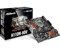 Материнская плата ASRock H110M-HDV R3.0 LGA1151 INTEL H110 2DDR4 4SATA3 1xD-Sub 1xDVI-D 1xHDMI ATX