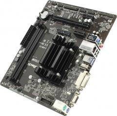Материнская плата ASRock N3700M (Celeron N3700 onboard) (RTL) PCI-E Dsub+DVI+HDMI GbLAN SATA MicroATX 2DDR3 N3700M