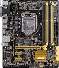 Материнская плата ASUS B85M-C/C/SI LGA1150,4*DDR3 mATX,GLan PCI-Ex16 4*SATA 6G,7.1CH 2*USB 3.0,D-Sub/DVI) OEM 90MB0IT0-M0XBY0