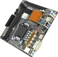 Материнская плата ASRock H110M-ITX LGA1151 PCI–E DVI+HDMI GbLAN SATA Mini–ITX 2DDR4 RTL