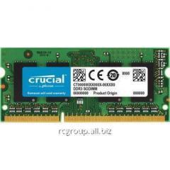 Оперативная память для ноутбука 8GB DDR3L 1866 MHz Crucial SODIMM PC3L-14900 CL=13 Unbuffered NON-ECC DDR3L-1866 1.35V 1024Megx64  CT102464BF186D