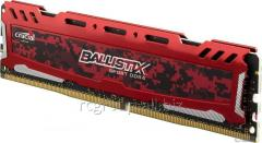 Оперативная память DDR4 2400MHz Crucial 8GB Ballistix Sport LT Red BLS8G4D240FSE UDIMM PC4-19200 • 16-16-16 • Unbuffered NON-ECC 1.2V 1024Meg x 64