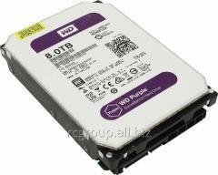 Жесткий диск для видеонаблюдения HDD 8Tb Western Digital Purple WD80PUZX SATA 6Gb/s 128Mb 3,5