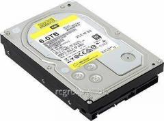 Жесткий диск повышенной надежности для ЦОД и горизонтально масштабируемых архитектур с высокими нагрузками HDD 6Tb Western Digital GOLD WD6002FRYZ SATA3 3,5