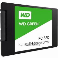 """Твердотельный накопитель 120GB SSD WD WDS120G1G0A Серия GREEN 2.5"""" SATA3 R540Mb/s, W405MB/s Толщина 7мм"""