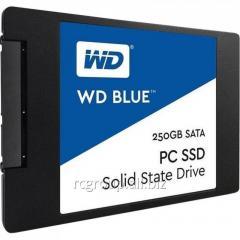 """Твердотельный накопитель 250GB SSD WD WDS250G1B0A Серия BLUE 2.5"""" SATA3 R540Mb/s, W500MB/s"""
