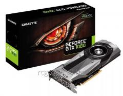 Видеокарта Gigabyte PCI-E GV-N1080D5X-8GD-B nVidia GeForce GTX1080 8192Mb 256bit GDDR5X 1607, 10000 DVIx1, HDMIx1, DPx3, HDCP Ret GVN10808DB-00-G