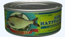 Canned food fish natural Bream