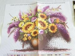 Набор для вышивания мулине Рисунок Цветов.