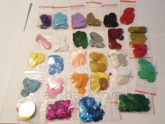 Декоративные монеты Цветы, в пакетиках. Разные