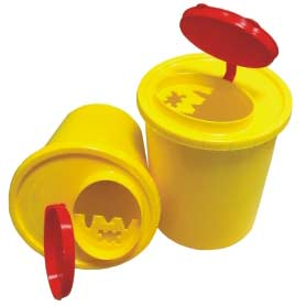 The container disposable for collecting and