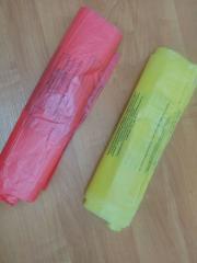 Пакеты одноразовые полиэтиленовые для сбора и утилизации отходов