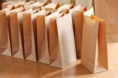 Paper bag (brown kraft) 15.5 * 9 * 30 78 density