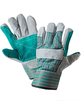 From spilkovy skin of a KRS glove, split thickness