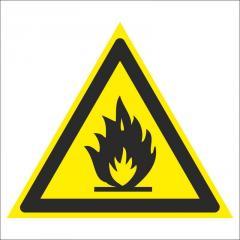 Знак Пожароопасно. Легковоспламеняющиеся вещества