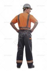 Брюки Илион графит/оранжевый