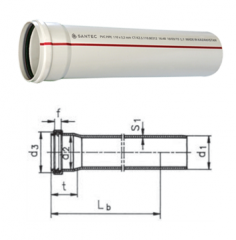 Труба ПВХ 50/3000 mm (3,2)