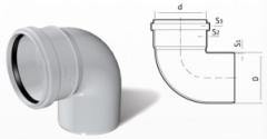 Отвод ПВХ кан (87°) 110 mm