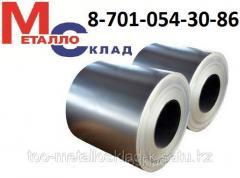 Steel zinced in rolls