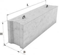 Фундаментные блоки сплошные-9-6-6Т