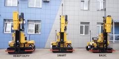 The self-propelled svayeboyny car for installation of protections of BTP BASIC