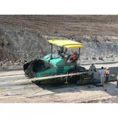 System of leveling on asphalt spreaders and road mills of MOBA-Matic Big-Sonic-Ski