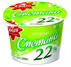 Svalya sour cream of 22% 200 g