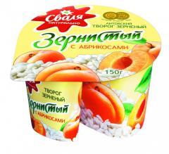 Творог Сваля  зернистый абрикос 150г