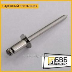 Медная вытяжная заклепка 5х16 МТ DIN 7337