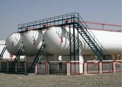 Резервуар для приёма и хранения СУГ (газгольдер) наземного размещения, объёмом от 4 600 до 20 000 л