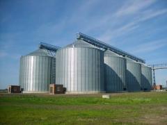Зернохранилища,  зерносклады