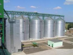 Зернохранилище из вентилируемых силосов