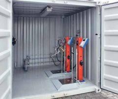 Контейнерная установка для заправки бытовых газовых баллонов