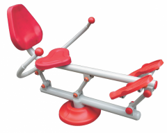 Exercise machines are rowing, Street exercise