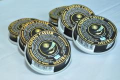 Caviar black, granular sturgeon breeds of fishes