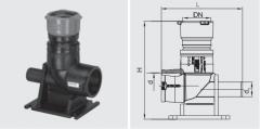 Отвод 90° с подпятником и переходом ПЭ-ВП/чугун