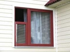 Window frames plastic