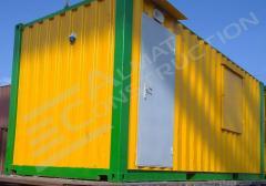 The portable cabin in Almaty